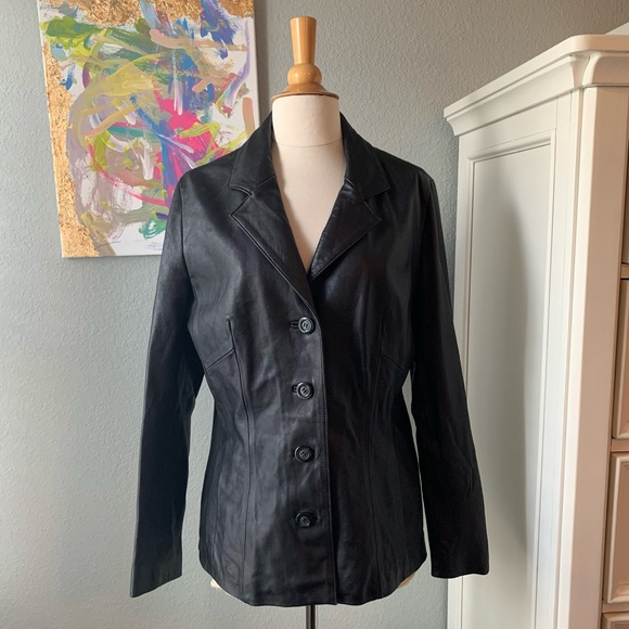 Wilsons Leather Jackets & Blazers - Wilson's Leather Women's Button Front Jacket!